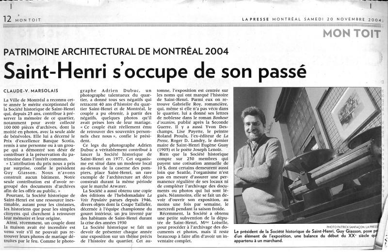 LaPresse 20 nov 2004