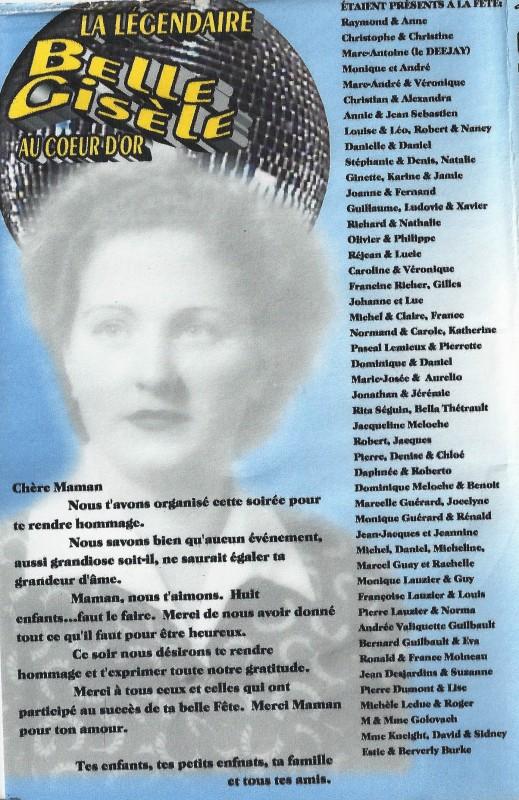 2005 4 fois 20 ans- Gisèle 80 ans